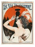 La Vie Parisienne, Cheri Herouard, 1922, France Giclée-tryk