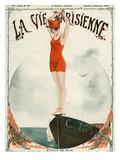 La Vie Parisienne, Georges Leonnec, 1919, France Giclée-tryk
