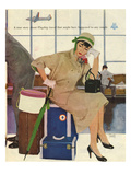 American Airlines, Al Parker, 1953, USA Giclée-tryk