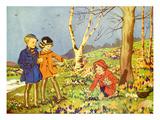 Infant School Illustrations, UK Giclee-trykk