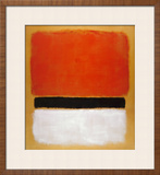 Untitled (Red, Black, White on Yellow), 1955 Posters by Mark Rothko