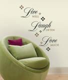 Live Love Laugh Peel & Stick Wall Decals Muursticker