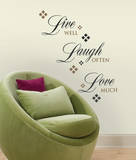 Live Love Laugh (sticker murale) Decalcomania da muro