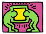 Pop Shop (TV) Giclée-tryk af Keith Haring