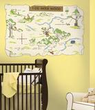 Winnie the Pooh - 100 Aker Wood Peel & Stick Map Veggoverføringsbilde