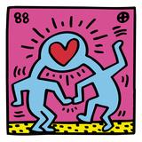 Pop Shop (Heart) Reproduction procédé giclée par Keith Haring