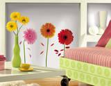 Small Gerber Daisies Peel & Stick Wall Decals Muursticker