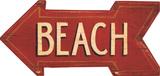 Oversized Red Arrow w/Beach Wood Sign
