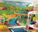 Thomas the Train Size Prepasted Mural 9' x 15' Wallpaper Mural
