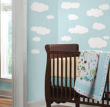 Clouds (White) Peel & Stick Wall Decals Autocollant mural