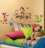 Jake ja Neverland merirosvot kuori & Stick seinä tarrat Seinätarra
