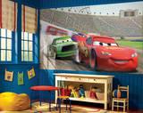 Cars Chair Rail Prepasted Mural Wallpaper Mural