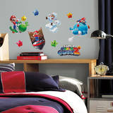 Nintendo - Mario Galaxy 2 Peel & Stick Wall Decals Autocollant mural