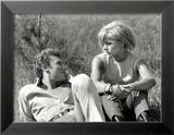 Johnny Hallyday and Sylvie Vartan, June 6, 1963 Framed Photographic Print by Luc Fournol