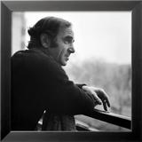 One of France's Greatest Pop Singers, Charles Aznavour Gerahmter Fotografie-Druck