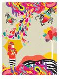 My Flying Zebra Giclée-Premiumdruck von Diela Maharanie