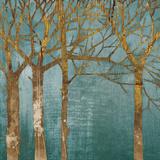 Golden Day Turquoise Kunstdrucke von Kathrine Lovell