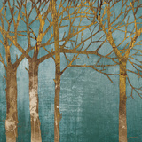 Golden Day Turquoise Print by Kathrine Lovell