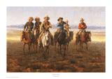 Singing Cowboy Poster af Andy Thomas