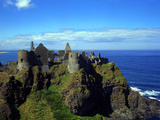 Dunluce Castle County Antrim Northern Ireland Reproduction photographique par Charles Bowman