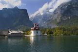 Konigsee lake St Bartholomeo Bavaria Germany Reproduction photographique par Charles Bowman