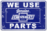 Chevy Parts Placa de lata