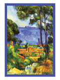 A View Through the Trees Of Reproduction giclée Premium par Paul Cézanne
