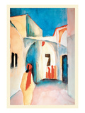 A Glance Down an Alley Print by Auguste Macke