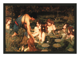 Hylas and the Nymphs Prints by John William Waterhouse