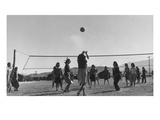 Volley Ball Game Print by Ansel Adams