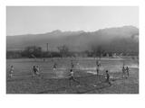 Football Practice Plakat av Ansel Adams
