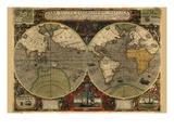 Vera Totius Expeditionis Nautica (World Map) Plakater af Abraham Ortelius