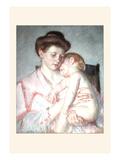 Sleepy Baby Prints by Mary Cassatt