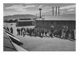 Mess Line, Noon Posters par Ansel Adams