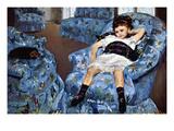 Small Girl in Blue Art par Mary Cassatt