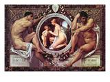 Idyll Giclée-Premiumdruck von Gustav Klimt