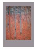 Beech Forest Poster por Gustav Klimt