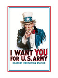I Want You for the U.S. Army Láminas por Flagg, James Montgomery