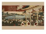 Horse Race at Ueno Park Poster by  Chikanobu