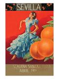 Sevilla - Fair Week Poster von Sara Pierce