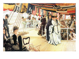 Ball on Board Prints by James Tissot