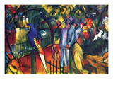 Zoological Gardens Print by Auguste Macke