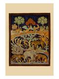 Animal Tapestry Poster by  Needlecraft Magazine
