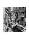 Mississippi Delta Negro Children Print by Dorothea Lange