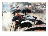 The Thames Plakater af James Tissot