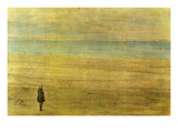 Harmony in Blue and Silver - Trouville Kunst van James Abbott McNeill Whistler