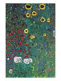 Garten Poster von Gustav Klimt