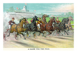 A Dash for the Pole Print by  Currier & Ives