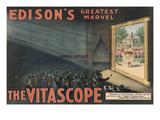 Edison's Greatest Marvel--The Vitascope Láminas por  Raff & Gammon