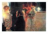 Schubert at the Piano Giclée-Premiumdruck von Gustav Klimt